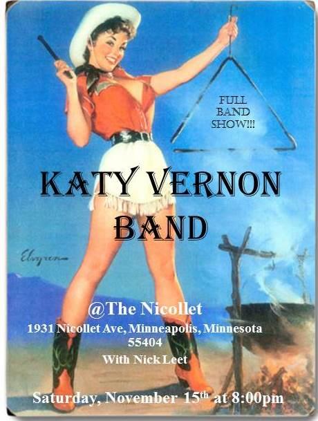 Katy Vernon Band gig poster